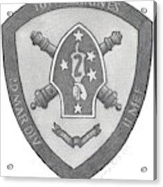 10th Marines Crest Acrylic Print by Betsy Hackett