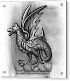 A Highclere Wyvern Acrylic Print by Joe Winkler