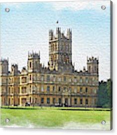 A View Of Highclere Castle 1 Acrylic Print by Joe Winkler