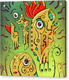 Ancient Spirit Acrylic Print by Sotuland Art