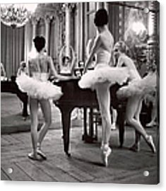 Ballerinas At The Paris Opera Doing Acrylic Print by Alfred Eisenstaedt