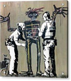 Banksy Coppers Pat Down Acrylic Print by Gigi Ebert