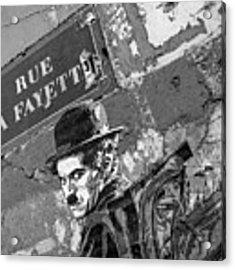 Banksy Rue La Lafayette Acrylic Print by Gigi Ebert