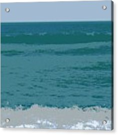 Blue Waters And Waves Acrylic Print by Michelle Calkins