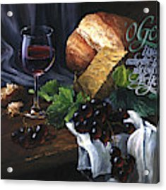 Bread And Wine Acrylic Print by Clint Hansen