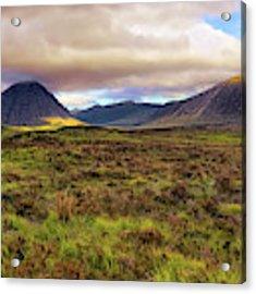Buachaille Etive Mor From Rannoch Moor - Scotland - Landscape Acrylic Print by Jason Politte