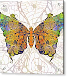 Butterfly Zen Meditation Abstract Digital Mixed Media Artwork By Omaste Witkowski Acrylic Print by Omaste Witkowski