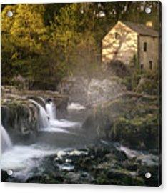 Cenarth Falls At Sunrise Acrylic Print by Elliott Coleman