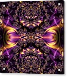 Chained Dragons Condemned  To Battle In Hells Fiery Furnace Fractal Abstract Acrylic Print by Rose Santuci-Sofranko