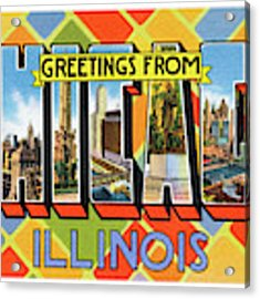 Chicago Greetings - Version 1 Acrylic Print by Mark Miller