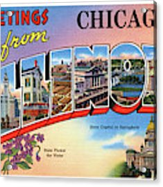 Chicago Greetings - Version 2 Acrylic Print by Mark Miller