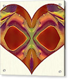 Colorful Heart - Naked Truth - Omaste Witkowski Acrylic Print by Omaste Witkowski