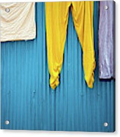 Colorful Laundry Acrylic Print by Nicole Young