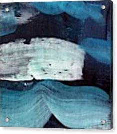 Deep Blue #3 Acrylic Print by Maria Langgle