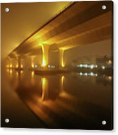Disappearing Bridge Acrylic Print by Tom Claud