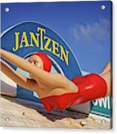 Diving Girl Beauty Acrylic Print by Alice Gipson