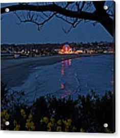 Easton's Beach At Nightfall Acrylic Print by William Jobes