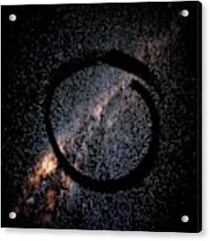 Enso Galaxy - Zen Circle Abstract  Acrylic Print by Marianna Mills