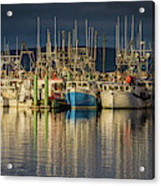 Evening At Digby Harbor Acrylic Print by Eva Lechner