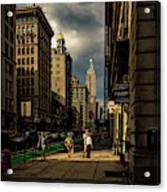 Evening On Fifth Avenue Acrylic Print by Chris Lord