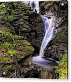 Falls Of Acharn - Perthshire Scotland - Waterfall Acrylic Print by Jason Politte