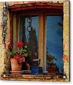 Farm House Window Acrylic Print by Chris Lord