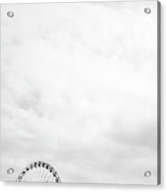 Ferris Wheel Clouds Acrylic Print by Whitney Leigh Carlson