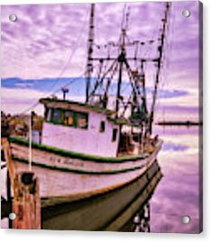 Florida Panhandle Fishing Boat Acrylic Print by Mel Steinhauer