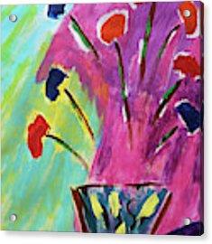 Flowers Gone Wild Acrylic Print by Deborah Boyd