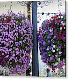 Flowers In Balance Acrylic Print by Mae Wertz