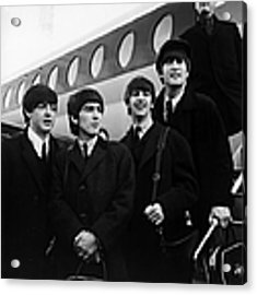Flying Beatles Acrylic Print by Evening Standard