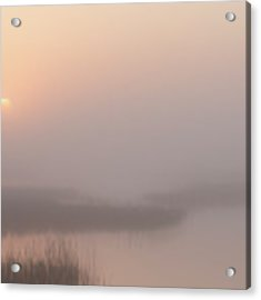 Foggy Sunrise At Cheyenne Bottoms -01 Acrylic Print by Rob Graham