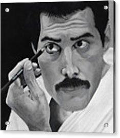 Freddie Mercury Acrylic Print by Matthew Mezo