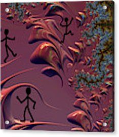 Frolicking In Fractal Land Acrylic Print by Shelli Fitzpatrick
