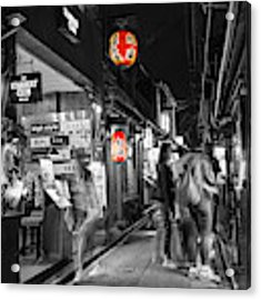 Ghosts At Pontocho Alley Acrylic Print by Eva Lechner
