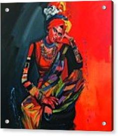 Goddess Of Colors Acrylic Print by Nizar MacNojia