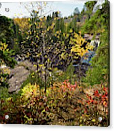 Gooseberry Falls From Above Acrylic Print by Whitney Leigh Carlson