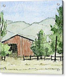 Grantsville Farm Scene Acrylic Print by David King