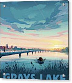 Grays Lake Acrylic Print by Clint Hansen