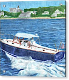 Great Ackpectations Nantucket Acrylic Print by Dominic White