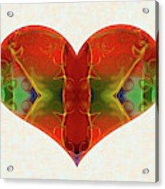 Heart Painting - Vibrant Dreams - Omaste Witkowski Acrylic Print by Omaste Witkowski