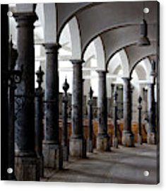 Horse Stalls Of The Royal Stables In Copenhagen Denmark Acrylic Print by William Dickman