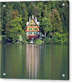House On The Lake Acrylic Print by Davor Zerjav