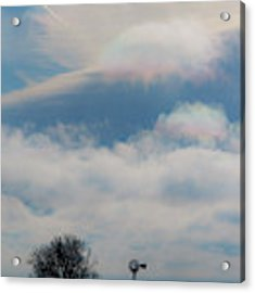 Iridescent Clouds 03 Acrylic Print by Rob Graham