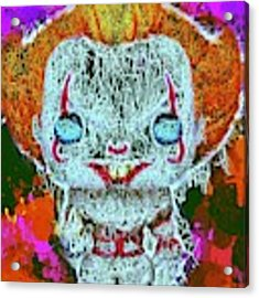 Pennywise Pop Acrylic Print by Al Matra