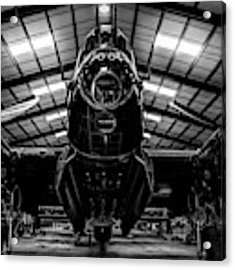 Lancaster Bomber Just Jane Bnw Acrylic Print by Scott Lyons