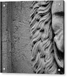Lion Statue Portrait Acrylic Print by Nathan Bush