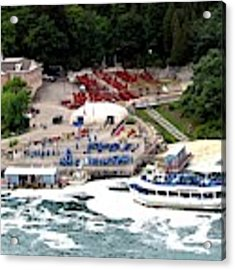 Maid Of The Mist Tour Boat At Niagara Falls Acrylic Print by Rose Santuci-Sofranko