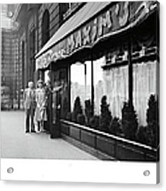 Maxims Restaurant In Paris, France Acrylic Print by Pictorial Parade