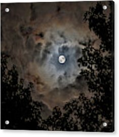 Moon And Clouds 2 Acrylic Print by Allin Sorenson